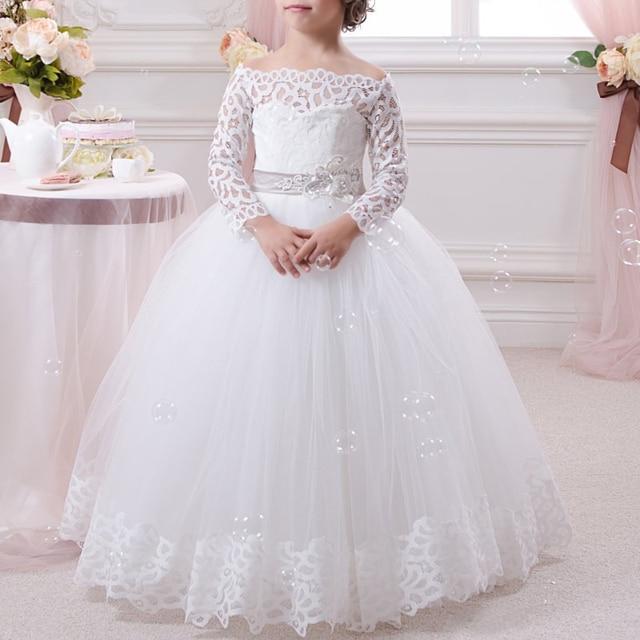 Vestidos largos para bodas de manga larga