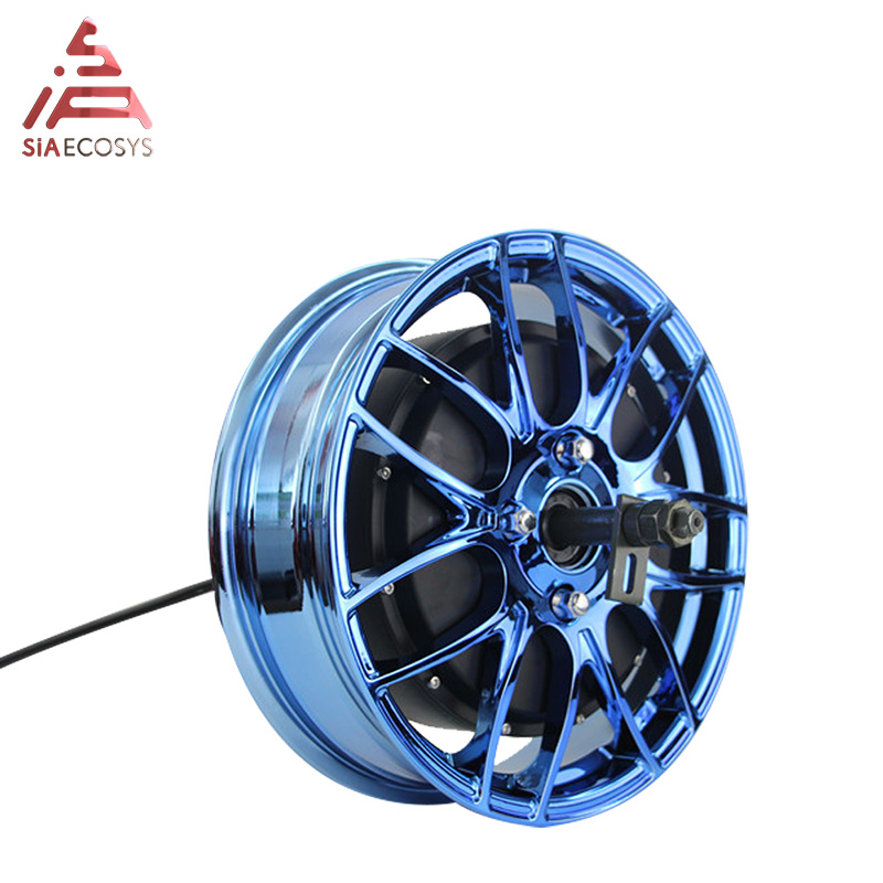QS 14inch Wide Tire Detachable 3000W 40h V1 260 Electric BLDC Wheel Hub Dual Shaft Motor
