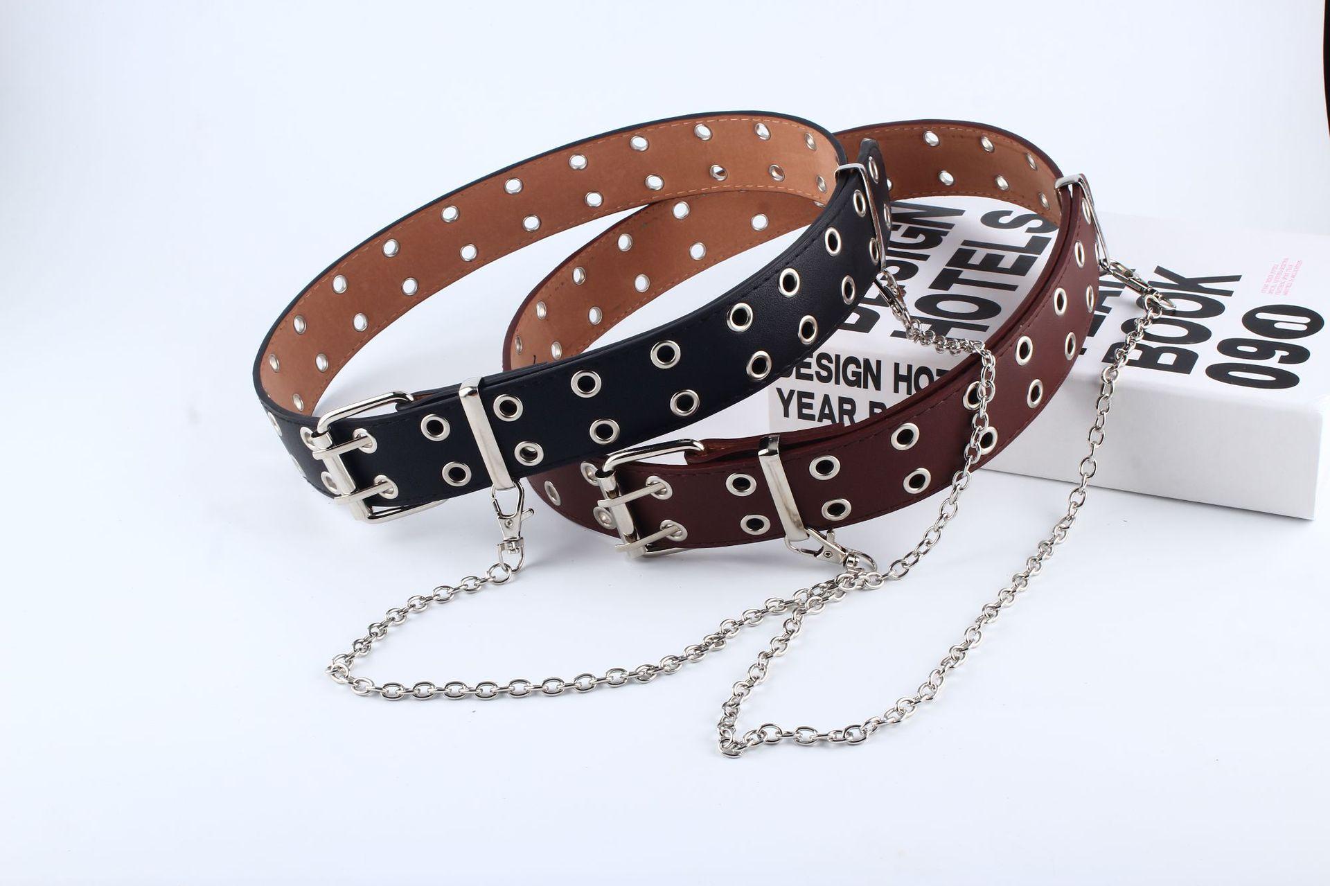 Новейший дизайн, съемный пояс-цепочка на талию, панк, хип-хоп, трендовые женские ремни, женская мода, Серебряная Пряжка, кожаный пояс, джинсы