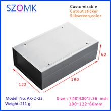 plastic enclosure electrical plastic case (4 pcs) 190*122*60mm instrument project box, electronics abs plastic desk top boxes
