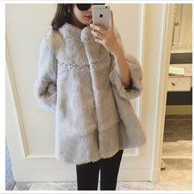 2016 Winter Fur Temperament Women's Fashion High-end  New Imitation Rabbit fur Coat Han Edition Loose Coat Coat big Yards Fur