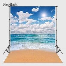 Neoback 5x7ft поли винил Лето море пляж просмотр фото Фоны Аксессуары для фотостудий компьютер с принтом фото фонов p2309