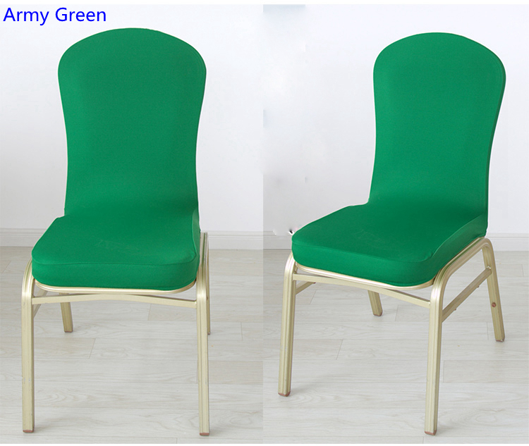 Army Green Colour Spandex Half Chair Covers For Wedding