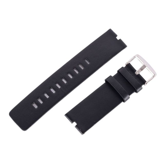 Brown / Black Replacement 22mm Strap Smooth Leather Watch Band Strap For Motorol