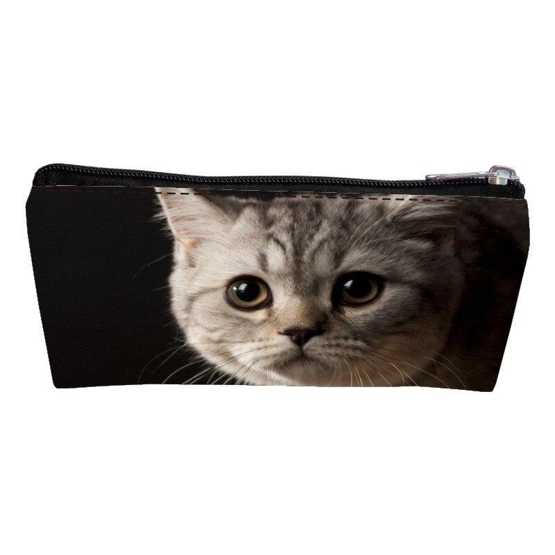 Мода 2017 г. Оксфорд печати кота подростков портмона Для женщин ключ бумажник дети детские ручки сумки студент кошелек для мальчиков