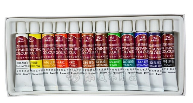 12 pcs = 1 box 12 ml body art pintura cores pintura facial pigmento maquiagem teatral tatuagem kit set para jogo de festa ânimo festivo