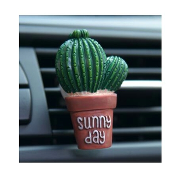 Creative 3D Simulation Plant Auto Air Conditioner Outlet Decoration Perfume Clip Air Freshener Car Tuyere Fragrance Car Ornament image