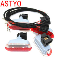 ASTYO Car Door Warning Light For VW polo 6R Octavia with cable