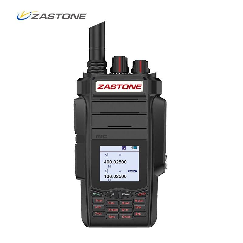 Zastone A19 Talkie Walkie 10 w CB Émetteur-Récepteur Radio 10 w VHF et UHF De Poche Pour La Chasse Radio 136- 174/400-480 mhz