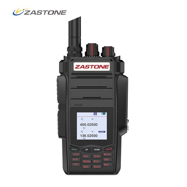 Zastone a19 10w walkie talkie alto powe dupla exibição de rádio em dois sentidos vhf & uhf handheld para a caça presunto fm transceptor