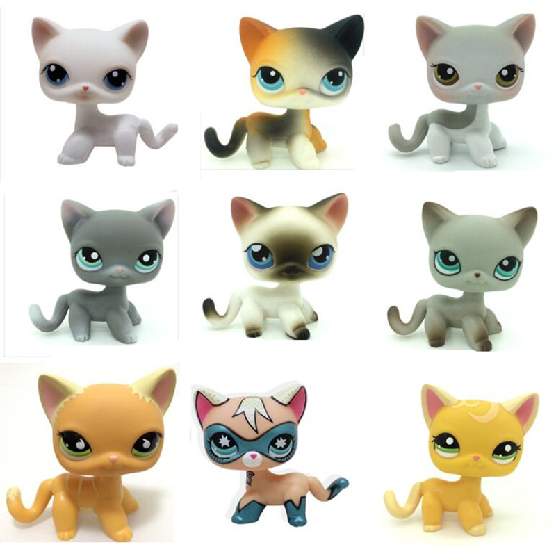 цены Lps Pet shop toys Real standing Short Hair cat animal dog original toys gift