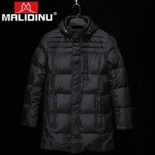 MALIDINU 2018 Men's Down Jackets 70%White Duck Down Winter Jacket Long Down Jacket Brand European Size Down Coat Free Shipping