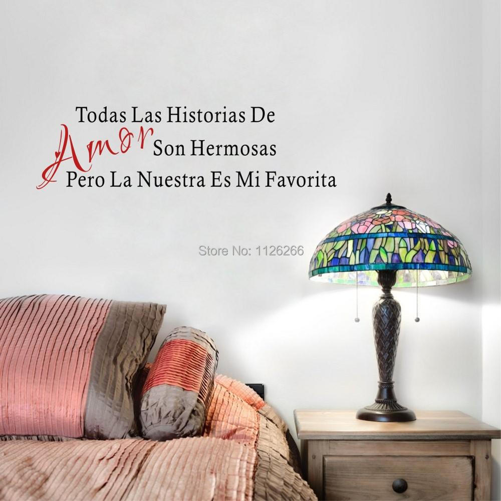 Amor Son Hermosas Spanish Love Quotes Vinyl Wall Decal Stickers Art Murals for Living Room Bedroom Decor