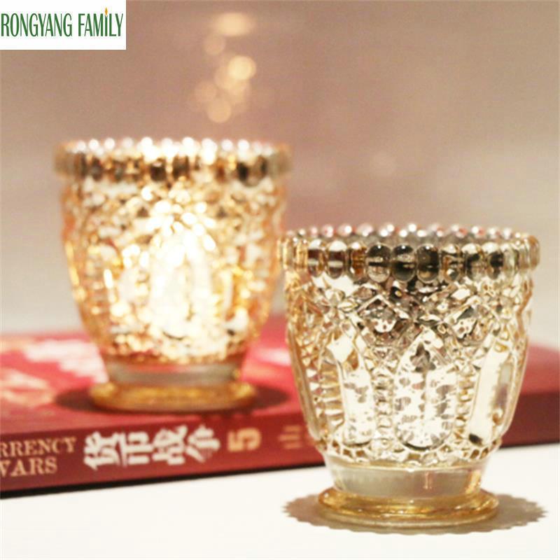 Clever Europäische Mosaik Glas Set Zwei Leuchter Romantische Candlelight-dinner Moderne Dekoration Brieftaschen Und Halter