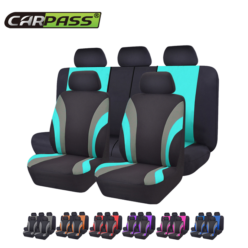 Car-pass Automobiles  Universal Seven Color Car Seat Cover Car-Styling Seat Covers  Fit Interior Accessories Seat Decoration(China)