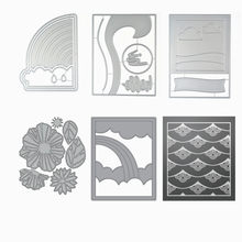 2019 New 3D Layered Metal Cutting Dies Craft and Scrapbooking For Paper Making Background Lace Edger Embossing Frame Card Set(China)