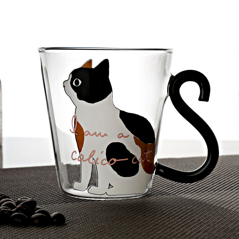 Gllead Creative Cartoon Cute Cat Double Wall Gl Mugs 350ml Coffee And Tea Mug Breakfast Milk Teacup Best Gifts In From Home Garden On