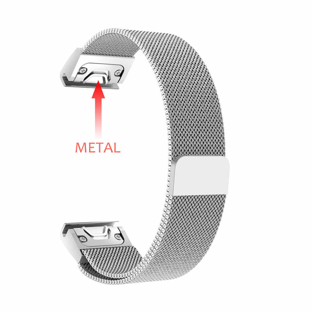 26 22 20MM bracelet de montre pour Garmin Fenix 6X6 S 6 Pro 5X5 5S 3 3HR montre rapide bande d'acier inoxydable bracelet de poignet