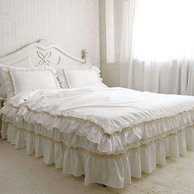 acheter couvre lit dentelle Main de luxe ensemble de literie housse de couette à volants  acheter couvre lit dentelle