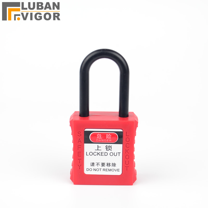 Insulated engineering plastic safety lock,38mm,Industrial safety locks Magnetically shielded explosion-proof plastic hook industrial crane with bak21 explosion proof control button qidong new dawn explosion proof handle