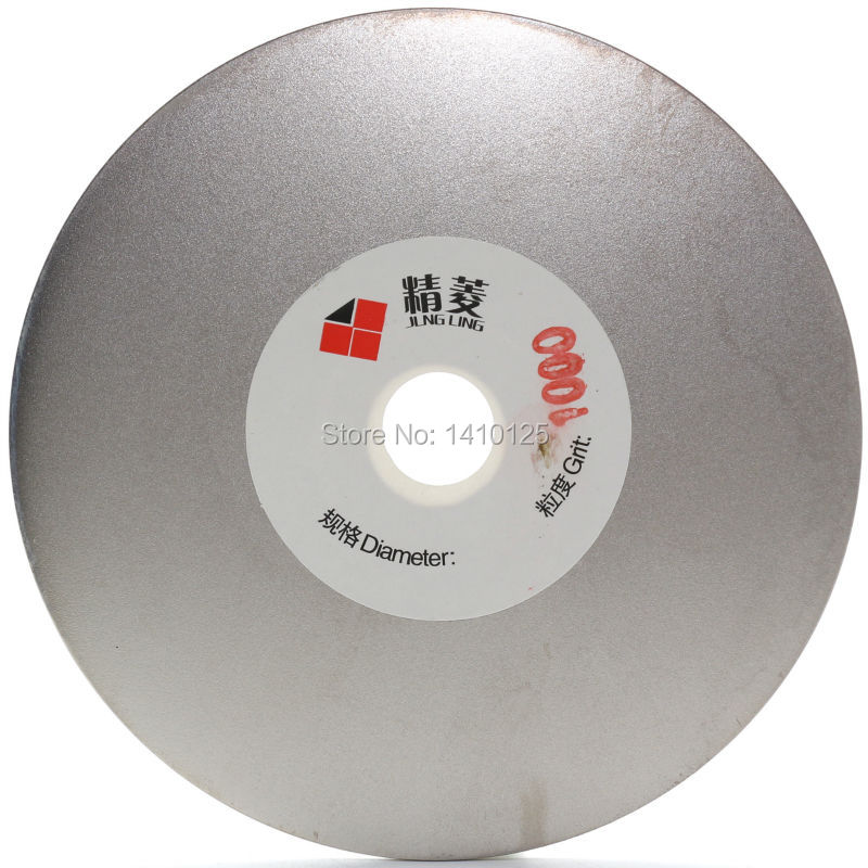 4 inch Grit 1000 Fine Diamond Grinding Disc Wheel Coated Flat Lap Disk Lapidary Tools for Sharpening Diamond Blades Gemstone 3pcs 2 6 inch grit 240 600 1000 kit thin flat diamond stone sharpeners knife fine medium coarse