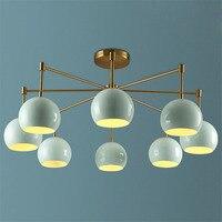 Nordic современный LED Потолочные светильники с металлическим оттенком, американский Стиль дома Освещение для Освещение в гостиную ресторана п