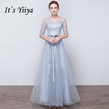 Пром платья с половиной рукавов it's yiiya  выпускного вечера