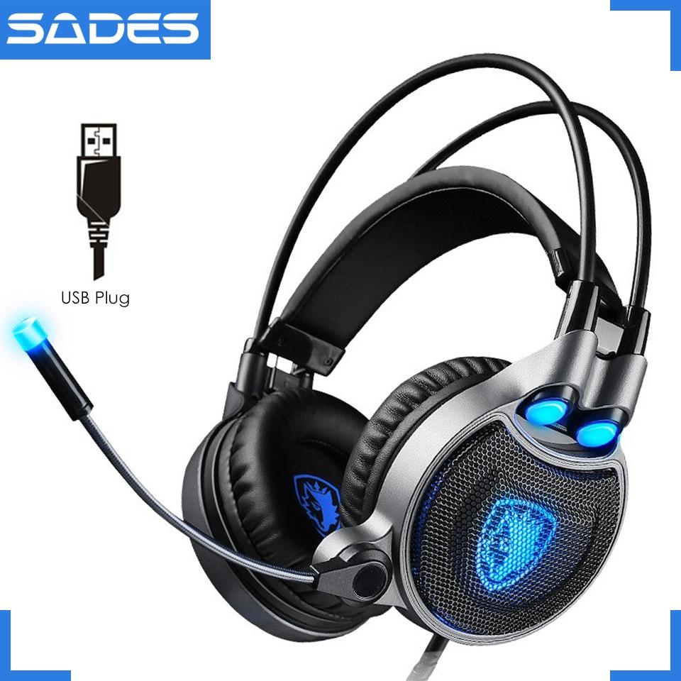 Auriculares para juegos SADES R1 Auriculares profesionales para - Audio y video portátil