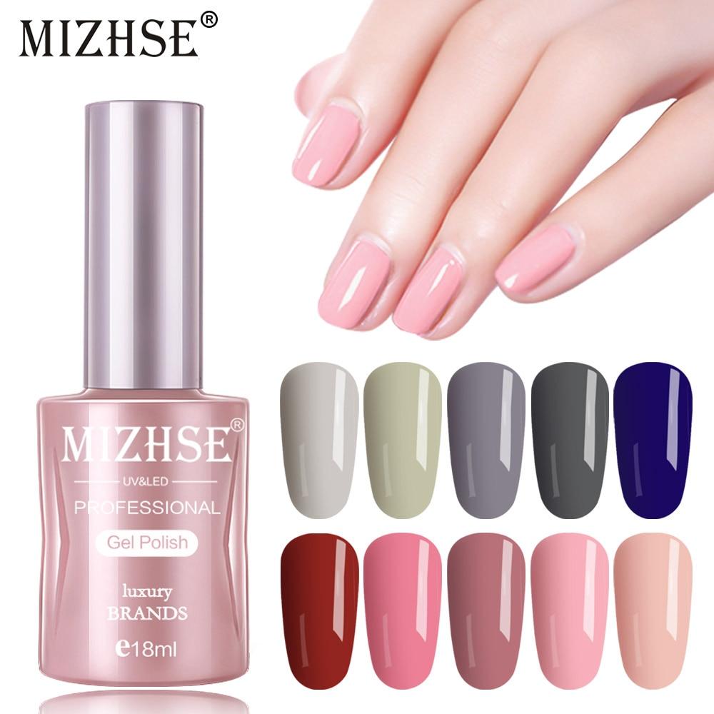 MIZHSE 18ml UV LED Gel Varnish Soak Off Nail Gel Polish Long Lasting Gel Nail Polishes Lacquer For DIY Nail Art Design Manicure