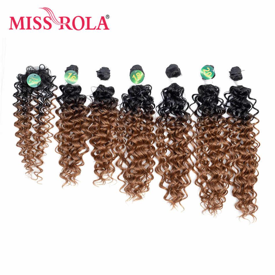 A tecelagem colorida ombre sintética das extensões do cabelo de miss rola empacota 16-20inch 6 unidades/pacote 200g t1b/30 com fechamento livre