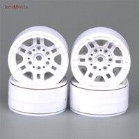 4 PCS Set White Color 1 10 Aluminum Wheel Hub AX 616WH RC Car Model Toy