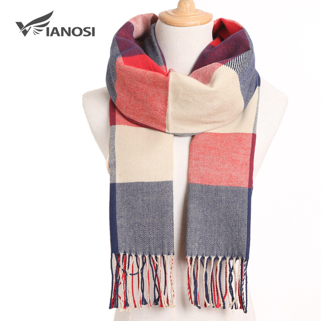[VIANOSI] Winter Women Scarf Brand Foulard Plaid Scarves Fashion Casual Poncho Scarfs Luxury Bufandas 3