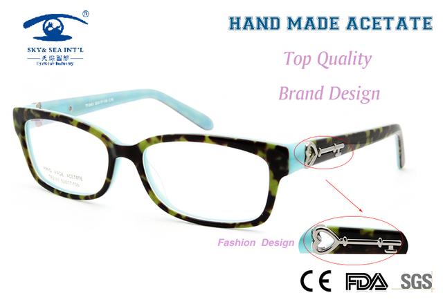 Original Calidad Ordenador Oculos Diseñador de Mujer de Marca Oculos De Grau Anteojos recetados Acetato Personalizada de Alta Moda 2016