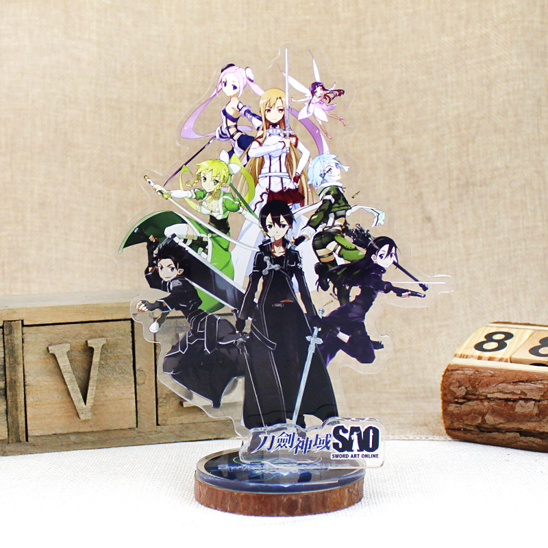 Anime Sword Art Online Display Big Stand Figure Model Plate Holder Japanese Cartoon SAO Figure Collection Jewelry Christmas Gift