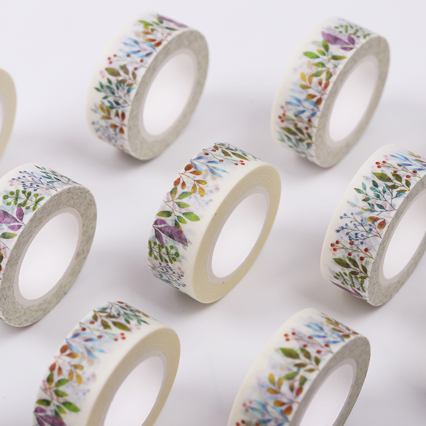 Cute Kawaii Herbaceous Plants Masking Washi Tape Decoration Adhesive Tape  DIY Scrapbooking Sticker Label Stationery