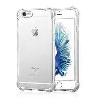 For Apple IPhone 5 5s SE 6 6s 6 Plus Shockproof Armor Gel Gasbag Transparent Hard