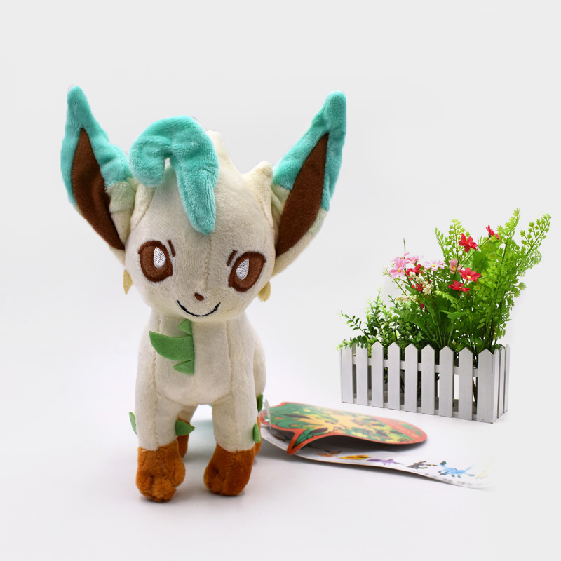 <font><b>20</b></font> <font><b>cm</b></font> Anime <font><b>Peluche</b></font> Doll Standing Leafeon Animal Stuffed Plush Quality Cartoon Toy Christmas Gift For Children image
