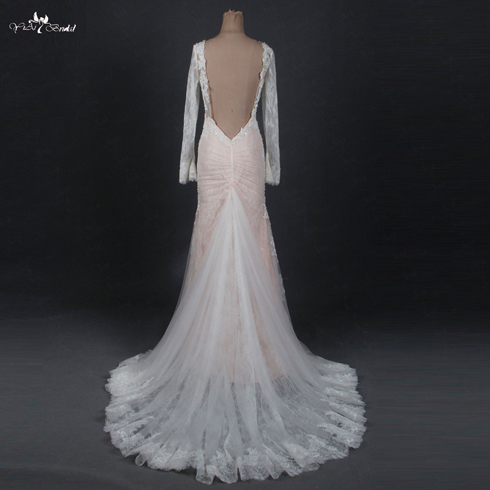 Bodice Wedding Gown: TW0156 Mermaid Wedding Dress Heavy Beading Blush Pink