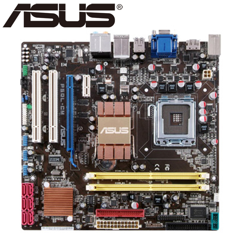 Asus P5QL-CM Desktop Motherboard G43 Socket LGA 775 Q8200 Q8300 DDR2 8G u ATX UEFI BIOS Original Used Mainboard On Sale asus p8h61 m le desktop motherboard h61 socket lga 1155 i3 i5 i7 ddr3 16g uatx uefi bios original used mainboard on sale