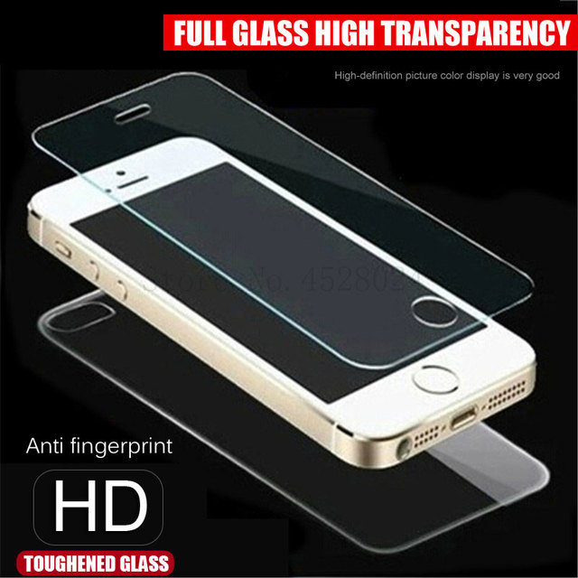 front+back Tempered Glass For iPhone 5 5S SE Screen Protector Film on the For Apple 5 5S SE 0.26mm 2.5D Clear Protective Glass