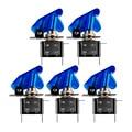 5 pcs Marca Nova cor azul 12 V 20A Car Capa LED SPST Tampa Do Carro Auto LEVOU Luz Controle de Alternância alternar Rocker Switch Rocker interruptor