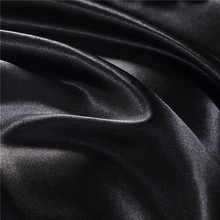 Write Black Bedding Sets King Double Size Satin Silk Summer Used Cold Bed Linen China Luxury Bedding Kit Duvet Cover Set