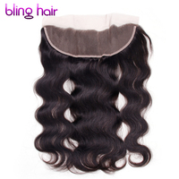 Bling Hair Remy Brazilian Body Wave Human Hair 13x4 Lace Frontal Natural Color 10 To 22