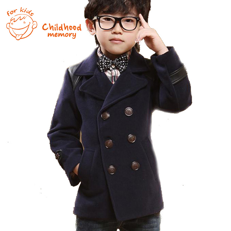 Aliexpress.com : Buy Double Breasted Kids Boys Wool Coat British