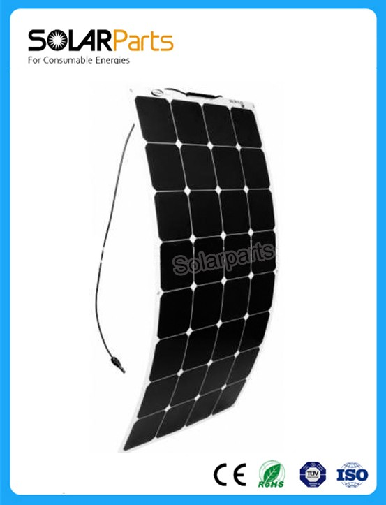 BOGUANG 400W sunpower semi-flexible solar panel module solar cell 4*100w boat RV yachat outdoor car 12V/24V battery charger high efficiency solar cell 100pcs grade a solar cell diy 100w solar panel solar generators