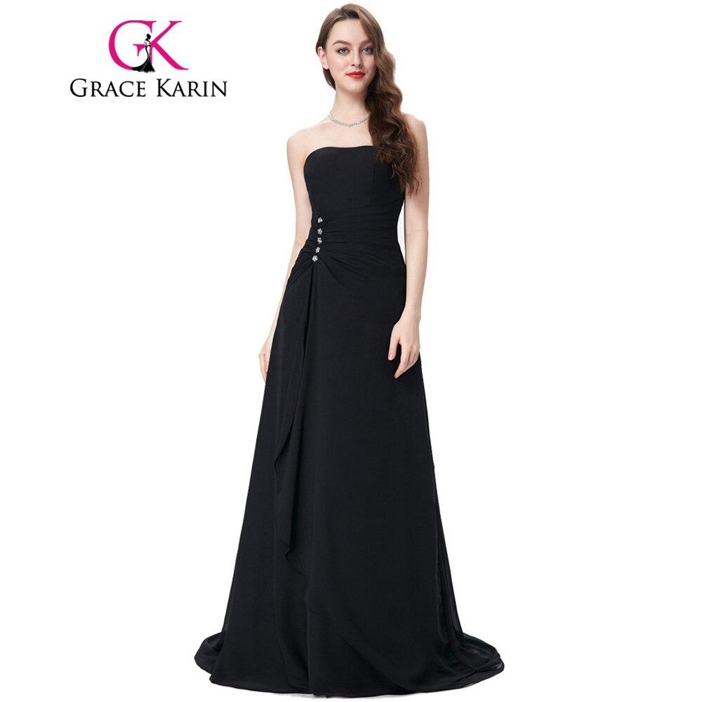 Grace karin abendkleider lange partykleid trägerlosen perlen chiffon ...