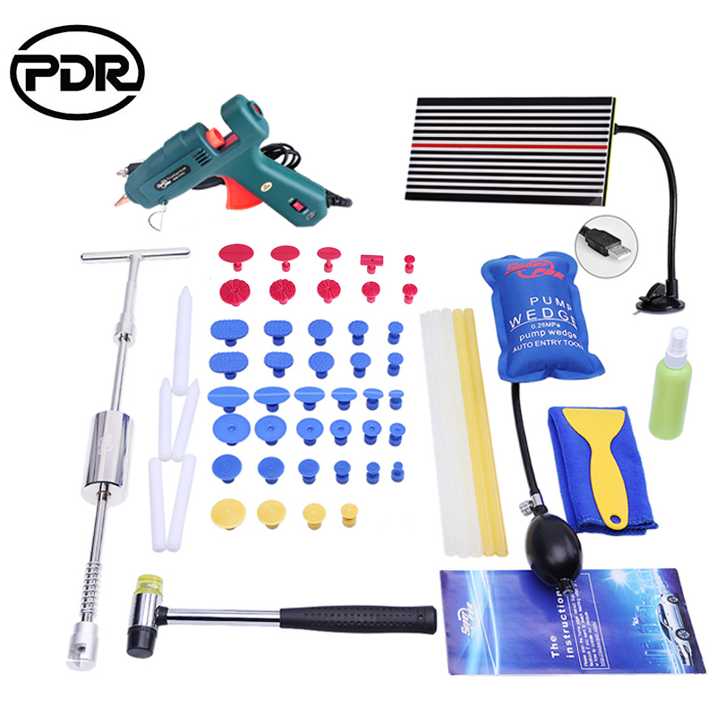 PDR Tools Auto Repair Tools Dent Removal Car Dent Repair LED Lamp Reflector Board Dent Puller Slide Hammer Reverse Hammer Fungi изолированная шлицевая отвертка 1160i 1 0x5 5x125 mm wera we 031587