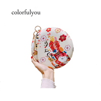 2019 Ladies Circular Handbag Japanese style Diamonds Ring handle totes clutch Bag Purse With Chain Women Shoulder messenger Bag