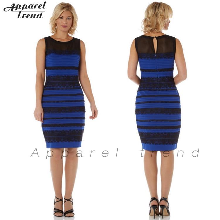 A robe bleu et noir