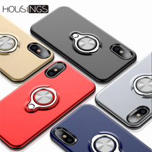 Ring Stand Phone Case For iPhone 7 8 Plus XR Magnetic Holder XS MAX XR X Hard TPU Shockproof Luxury For iPhone 6 6s Plus Cover цена и фото